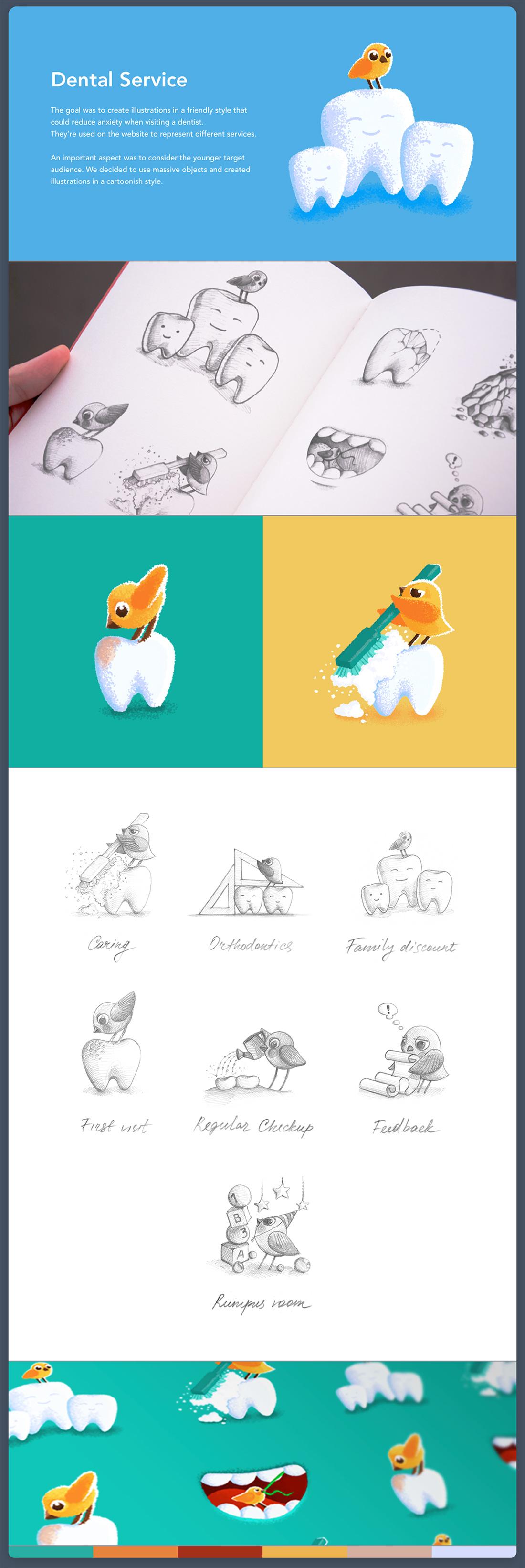 Экскизы и иллюстрации нарисованные от руки