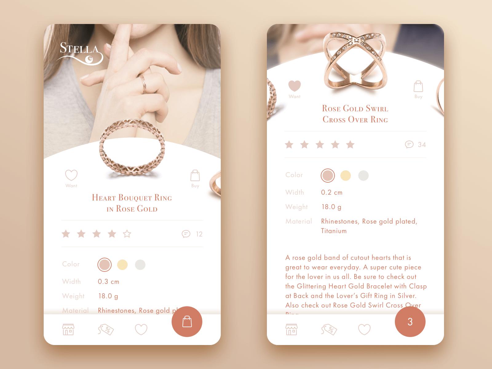 красивый дизайн для приложения интернет магазина