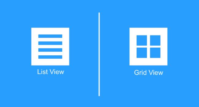 Мобильный UX дизайн: способы вывода сеткой и списком